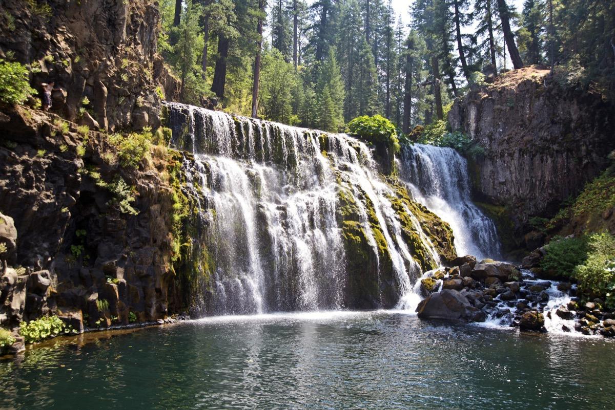 Waterfall on the McCloud River near Mount Shasta, California