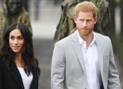 Prince Harry and Meghan Markle visit the Great Famine sculpture, Dublin, Ireland, in July 2018