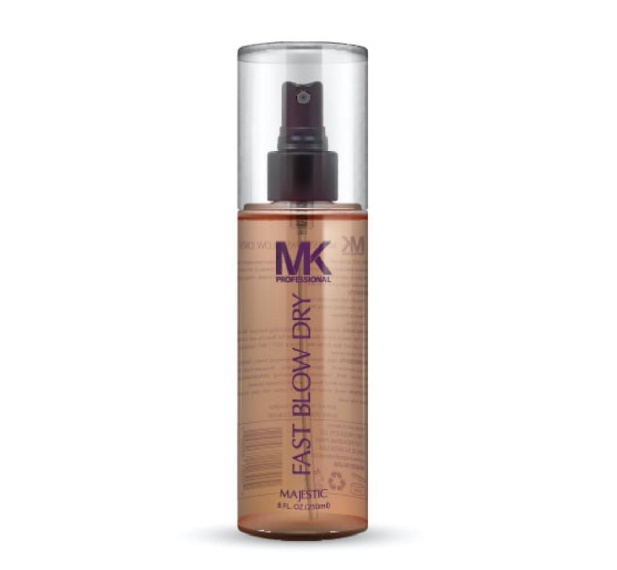 bottle of mk blow dry spray