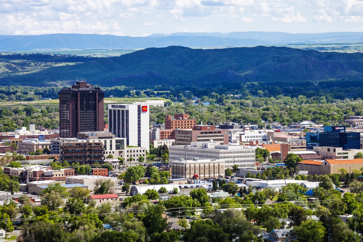 City view. Billings, Montana, USA