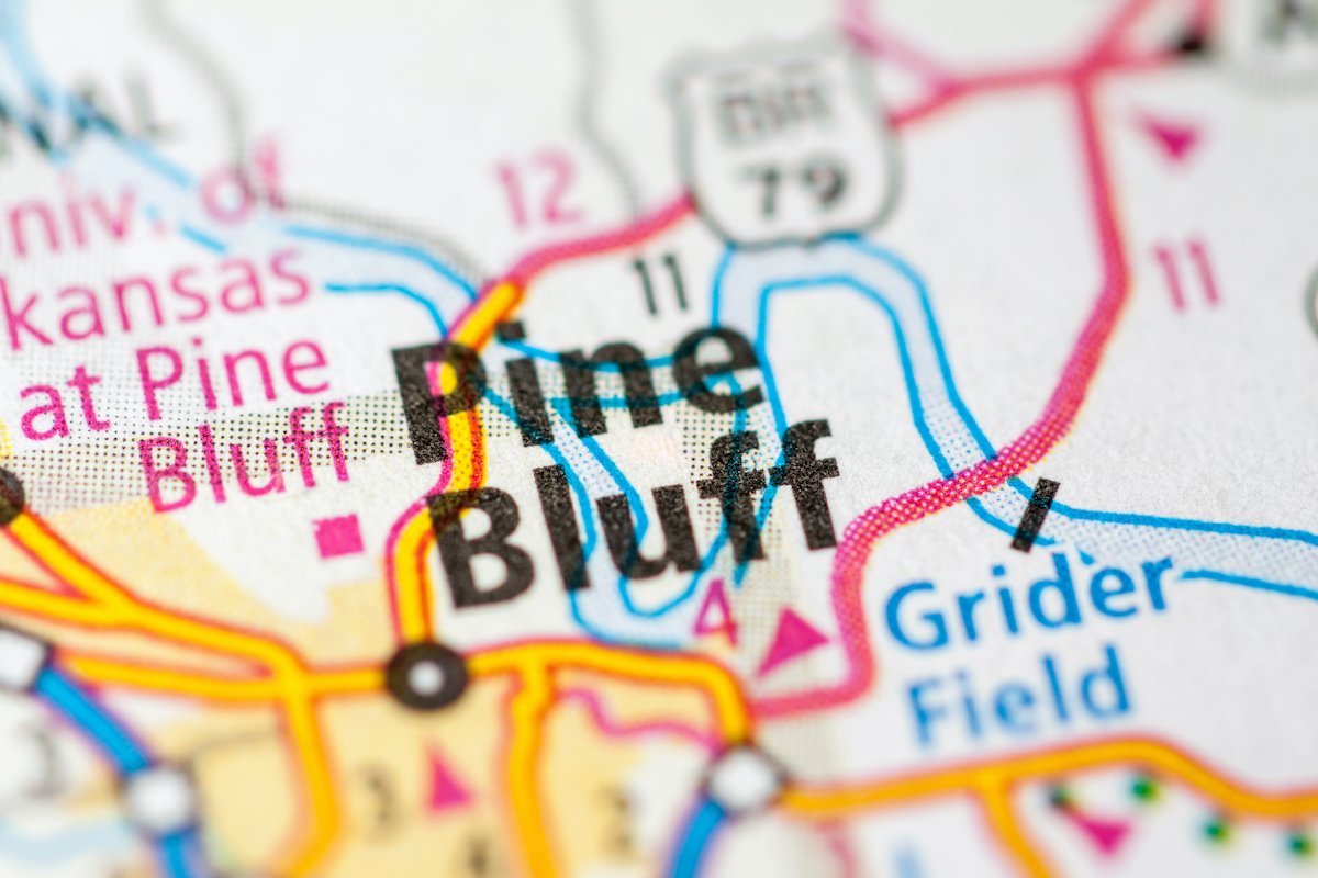 map of pine bluff arkansas