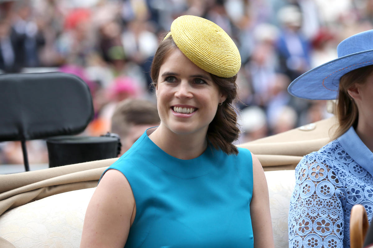 Princess Eugenie of York arrives for the first day of Royal Ascot at Ascot Racecourse in Berkshire, England
