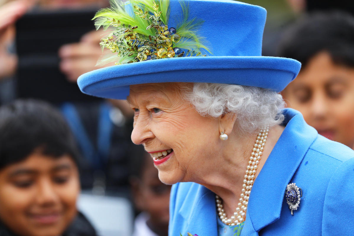 Queen Elizabeth II arrives to visit Haig Housing Trust, Morden, London, where she will officially open their new housing development for armed forces veterans and the ex-service community.