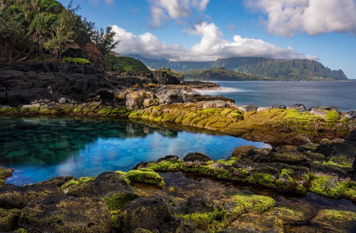 tidal pool in kauai
