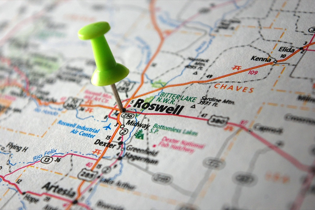 map of roswell