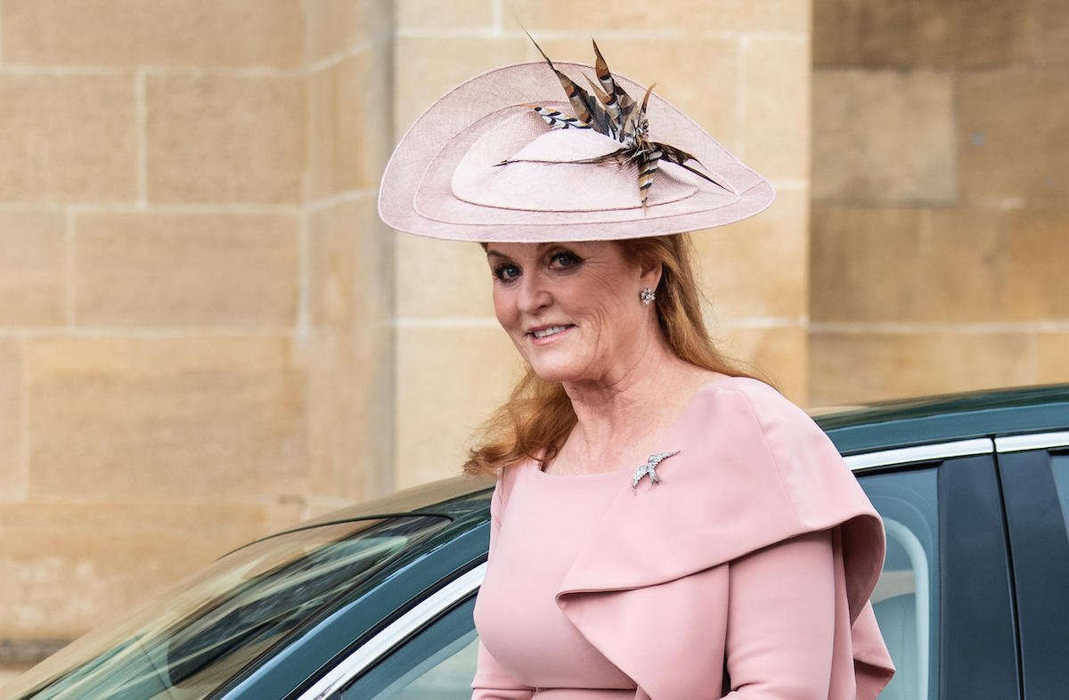 The wedding of Lady Gabriella Windsor and Thomas Kingston at St. George's Chapel, Windsor Featuring: Sarah Ferguson
