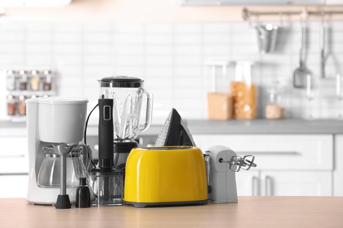kitchen appliances on kitchen counter