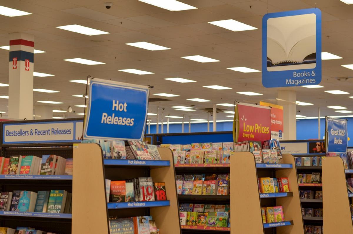 book aisles at walmart
