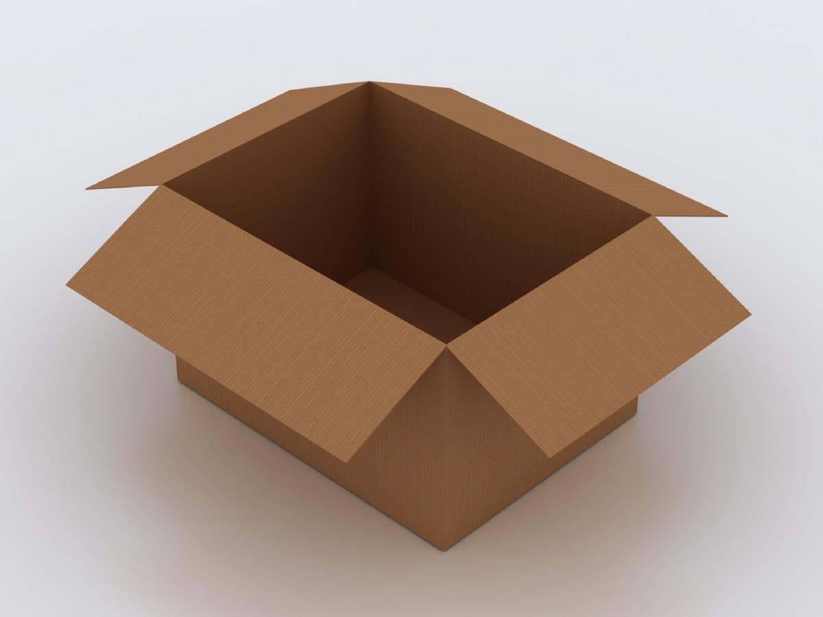 opened empty brown cardboard box