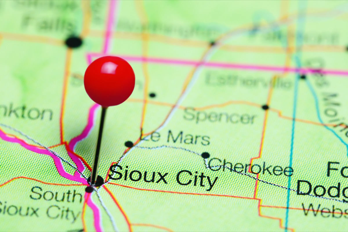 map of sioux city
