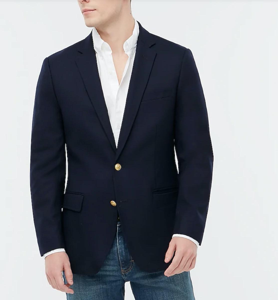 white guy in blue blazer