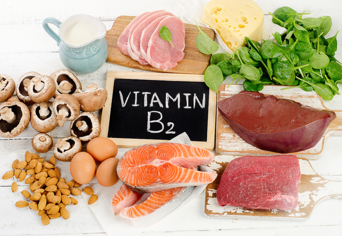 Foods Highest in Vitamin B2 (Riboflavin)- Top view