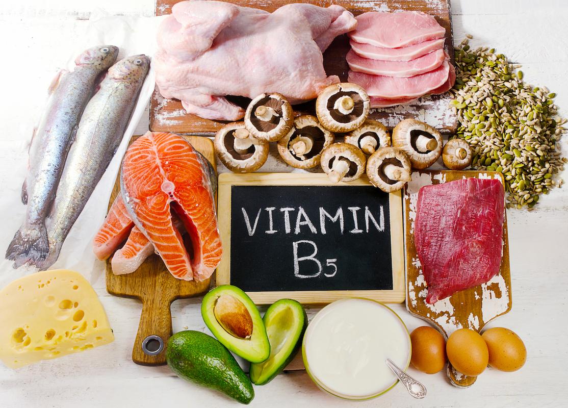 Foods Highest in Vitamin B5 (Pantothenic Acid)- Top view