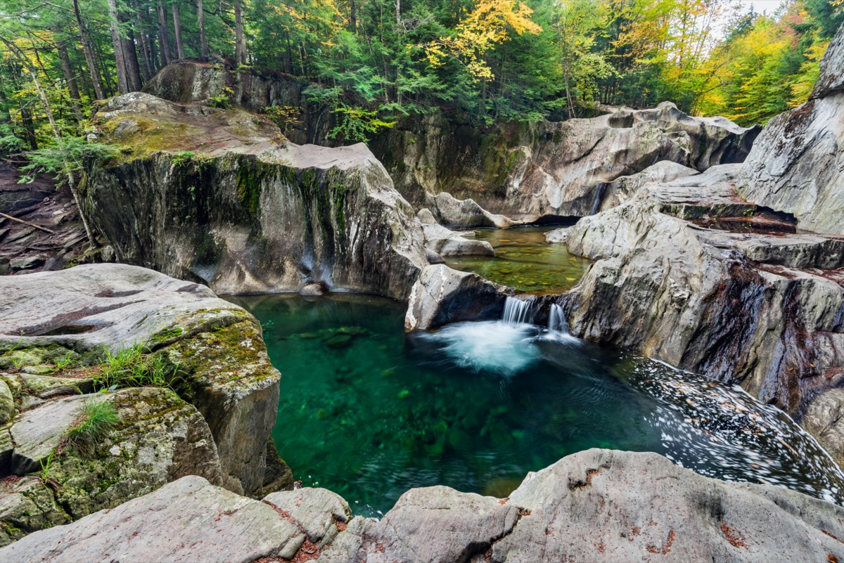 Warren Falls on the Mad River, Green Mountain National Forest, Washington County, Vermont