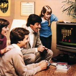 Family in the 1970s playing video games