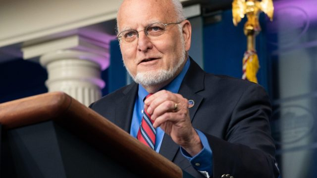 dr. robert redfield at the white house