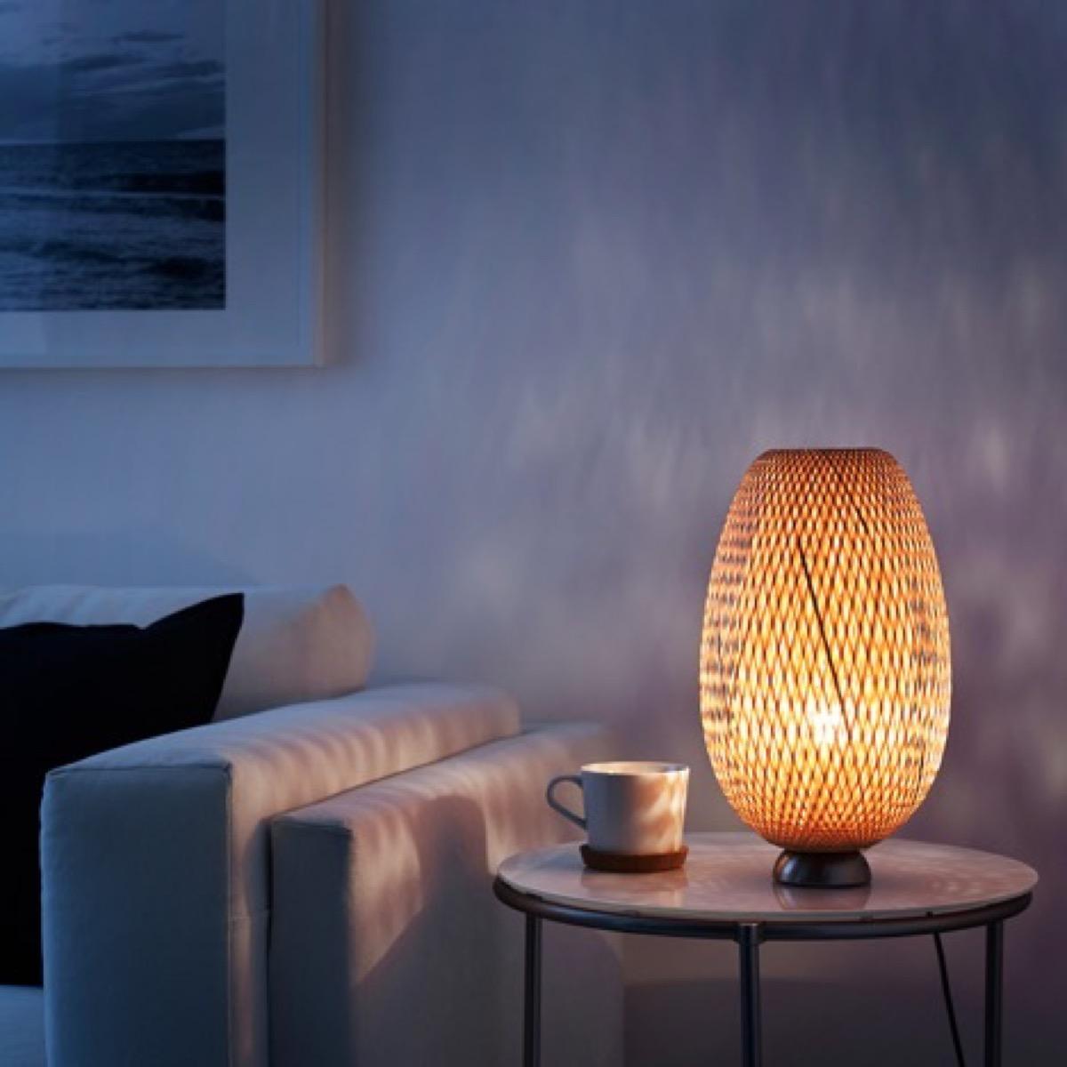Boja woven bamboo lamp in room