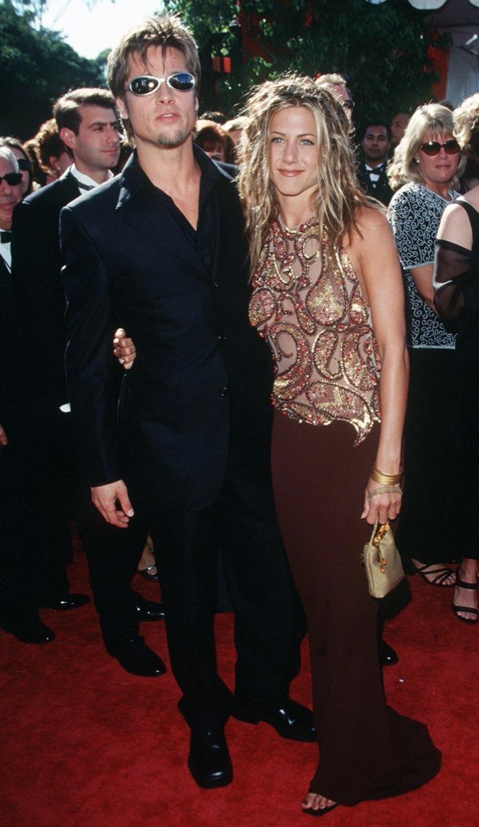 Brad Pitt and Jennifer Aniston at 1999 Emmys