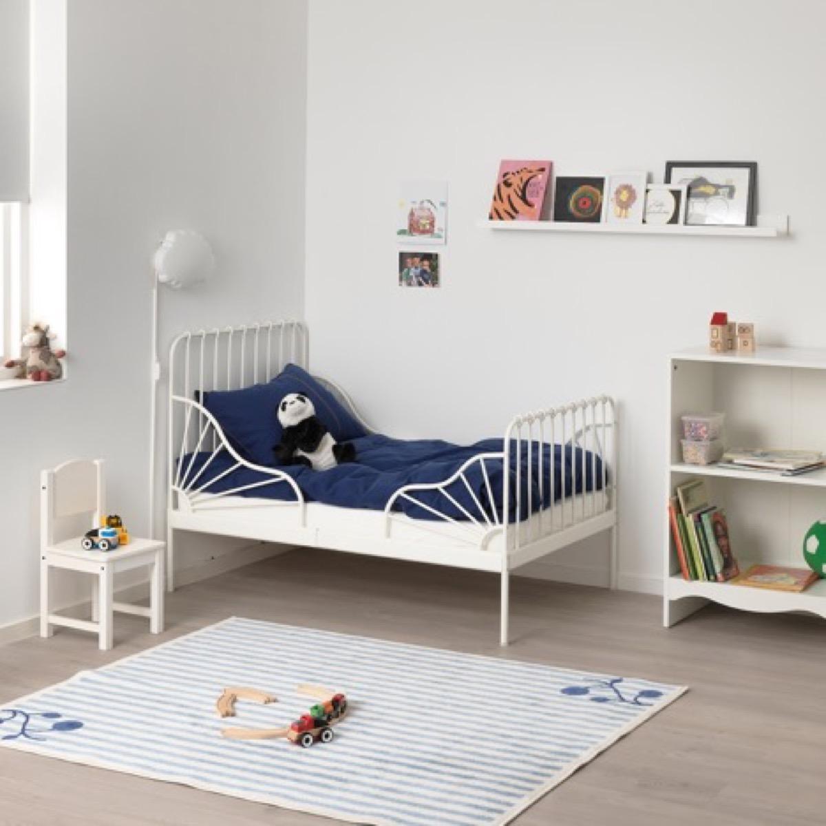 Ikea toddler bed in bedroom