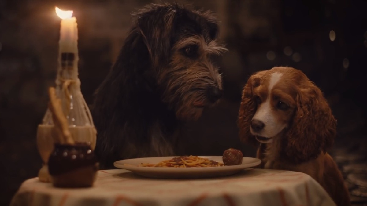 still from the 2019 lady and the tramp