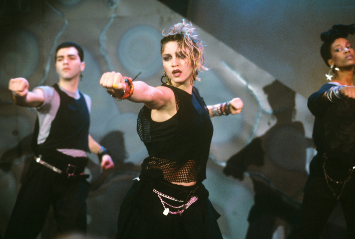 Madonna performing in 1984