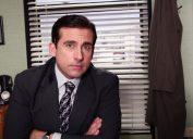 Steve Carell as Michael Scott in The Office