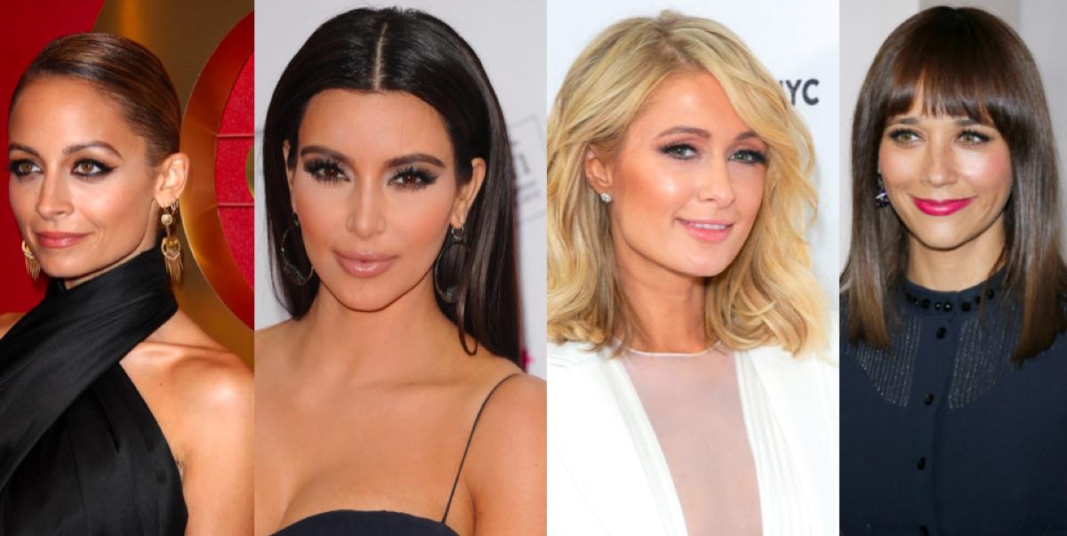 Nicole Richie, Kim Kardashian, Paris Hilton and Rashida Jones