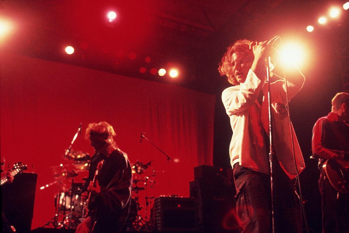 Pearl Jam performing in 1995