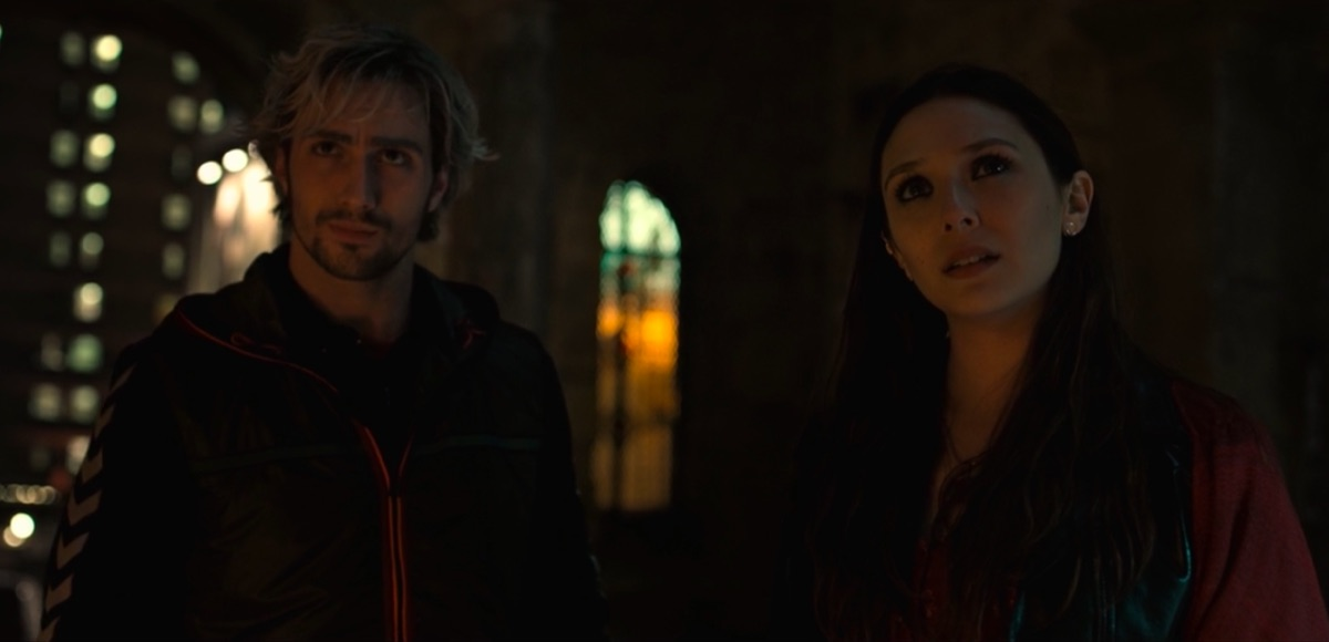 Aaron Taylor Johnson and Elizabeth Olsen in Avengers: Age of Ultron