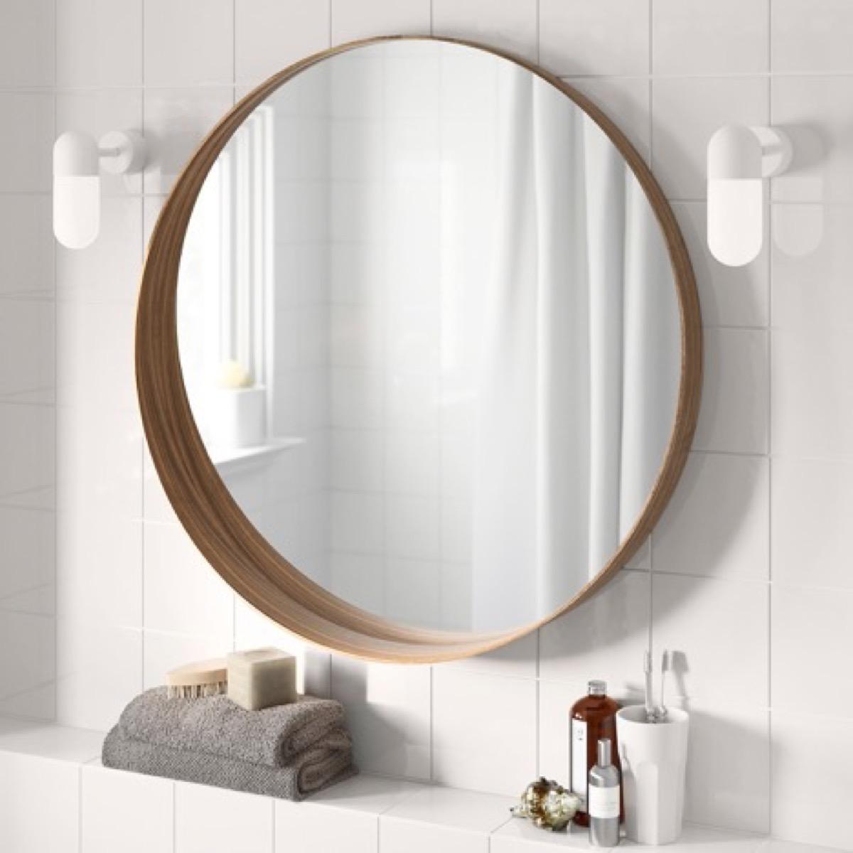 Ikea mirror mid-century