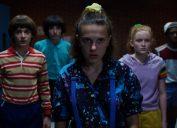 Noah Schnapp, Finn Wolfhard, Millie Bobby Brown, Sadie Sink and Caleb McLaughlin in Stranger Things