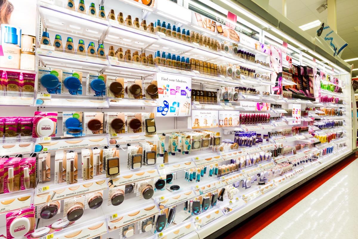 Target cosmetics aisle