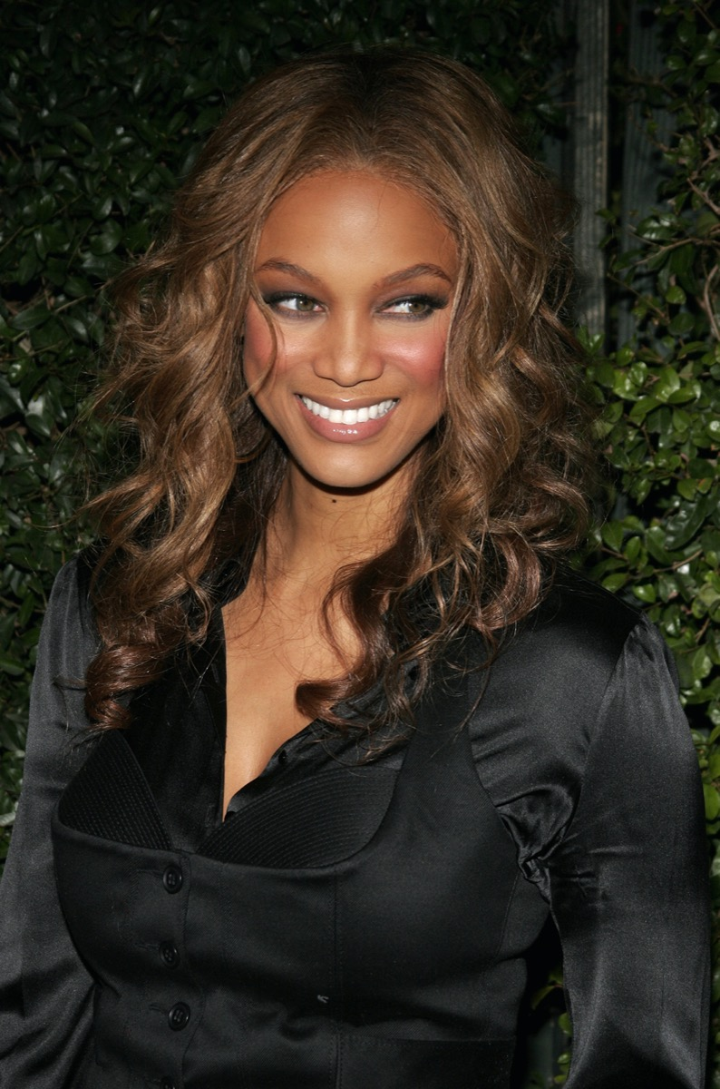 """Tyra Banks at the premiere of """"The Producers"""" in 2005"""