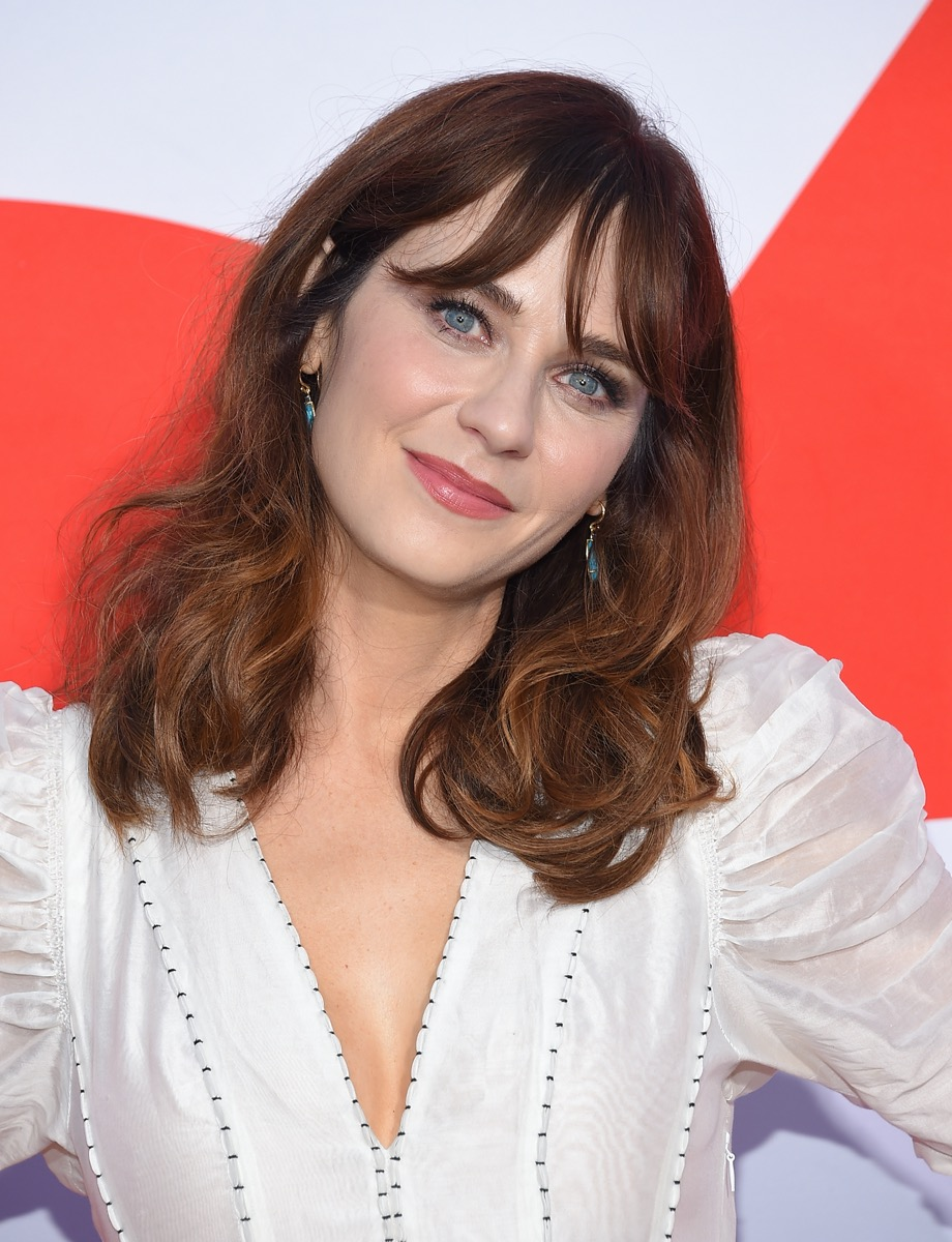"""Zooey Deschanel at the premiere of """"Good Boys"""" in 2019"""