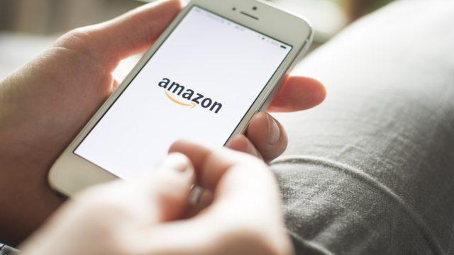 Amazon app on phone