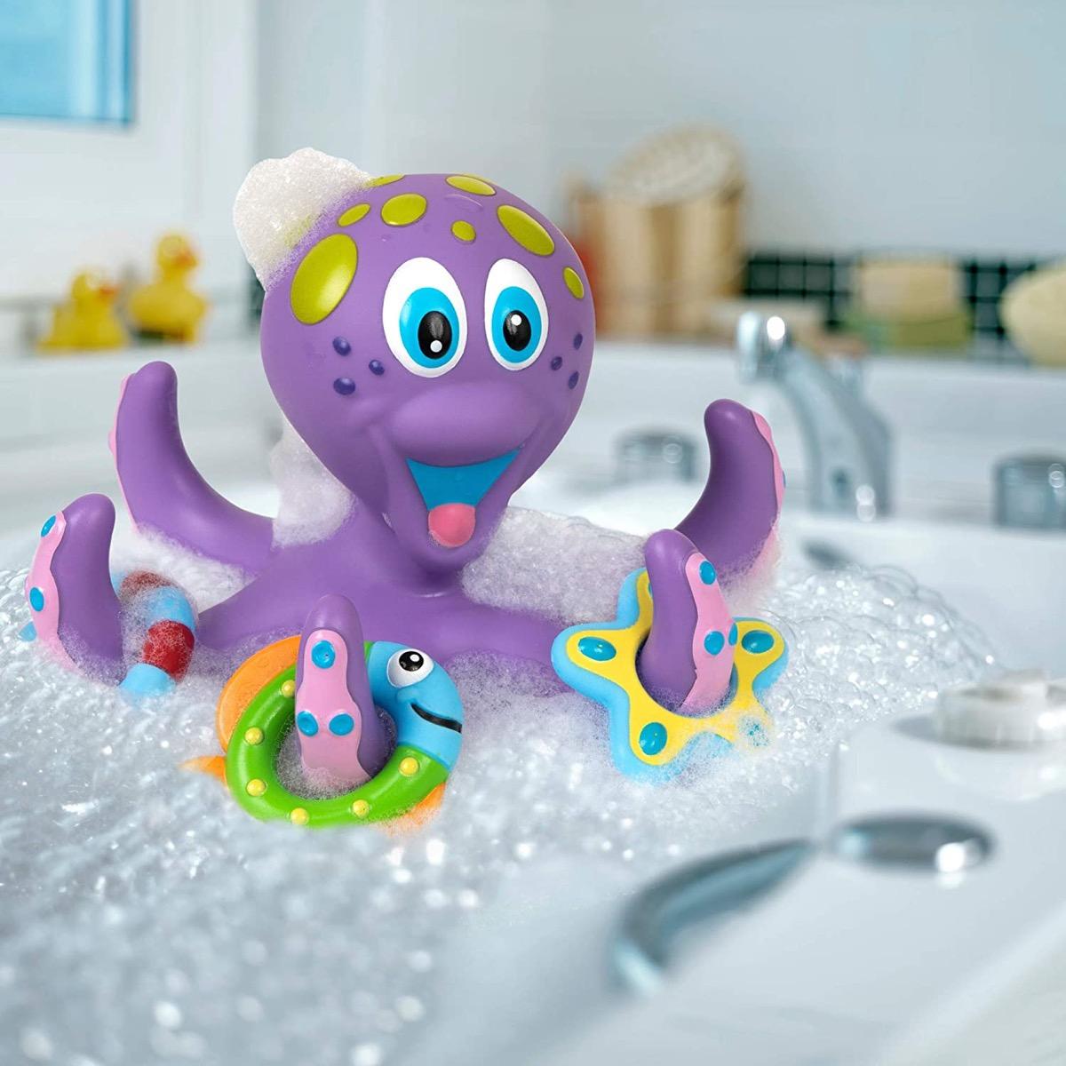 purple bath octopus