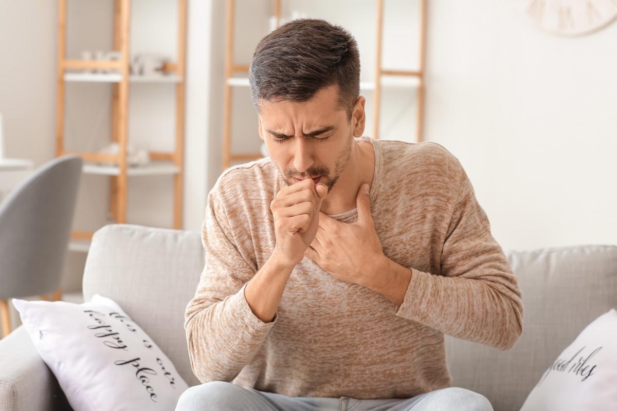 Man with cough symptom