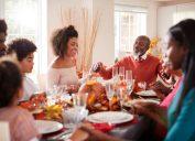 Black family members celebrating Thanksgiving