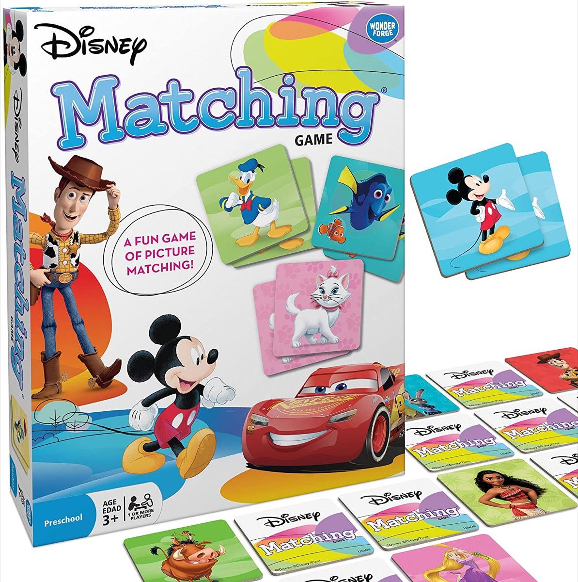 set of disney matching cards