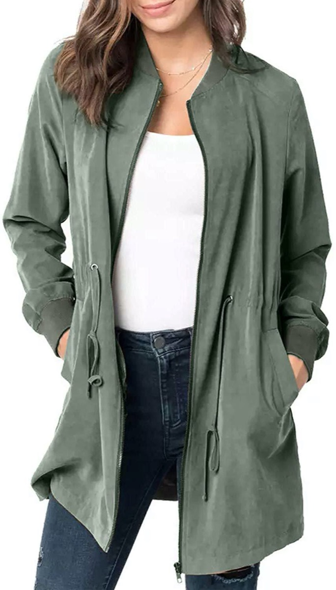 Green dust coat