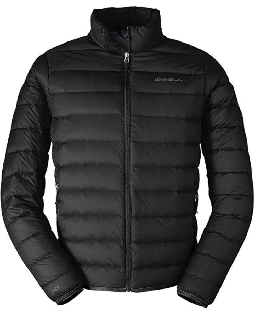 black eddie bauer puffer jacket