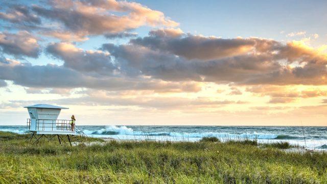 sunset along florida's treasure coast