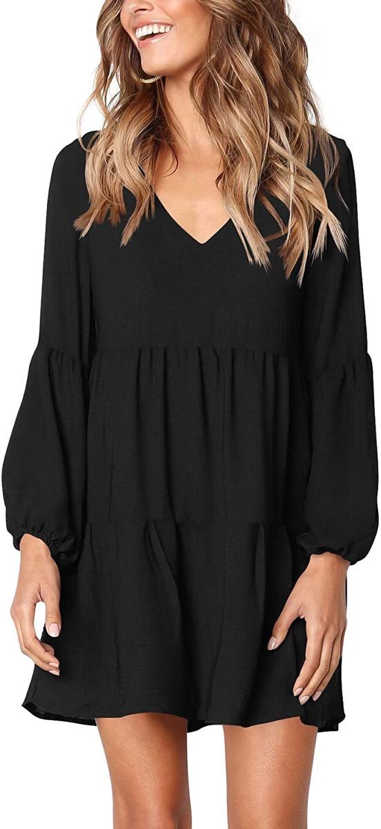 A black flowy dress