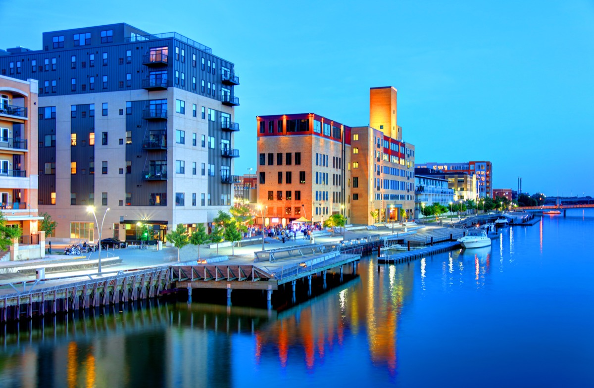 Green Bay is a city in and the county seat of Brown County in the U.S. state of Wisconsin, at the head of Green Bay, a sub-basin of Lake Michigan