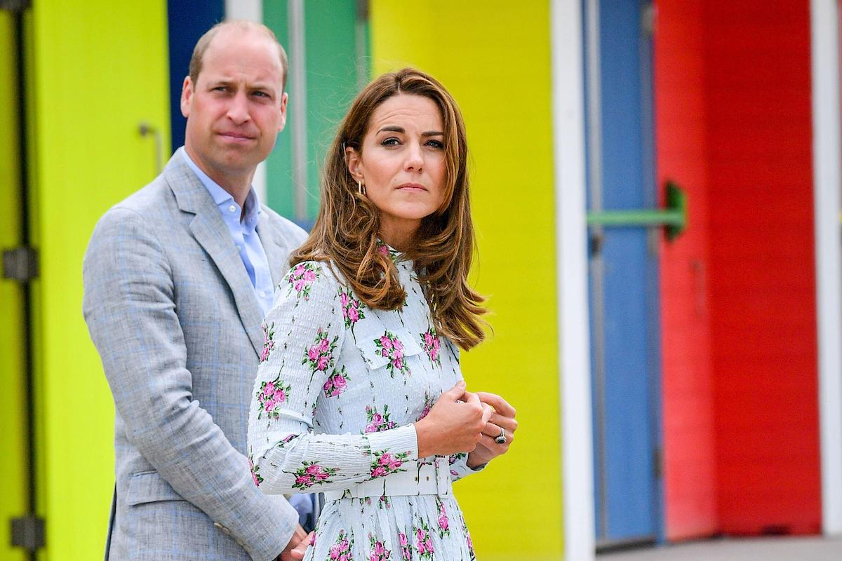 Britain's Prince William and Catherine, Duchess of Cambridge walk on a promenade during their visit to Barry Island, South Wales, as local businesses reopen amid the coronavirus disease (COVID-19) outbreak, Britain August 5, 2020.