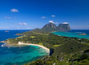 View south over Lord Howe Island from Malabar