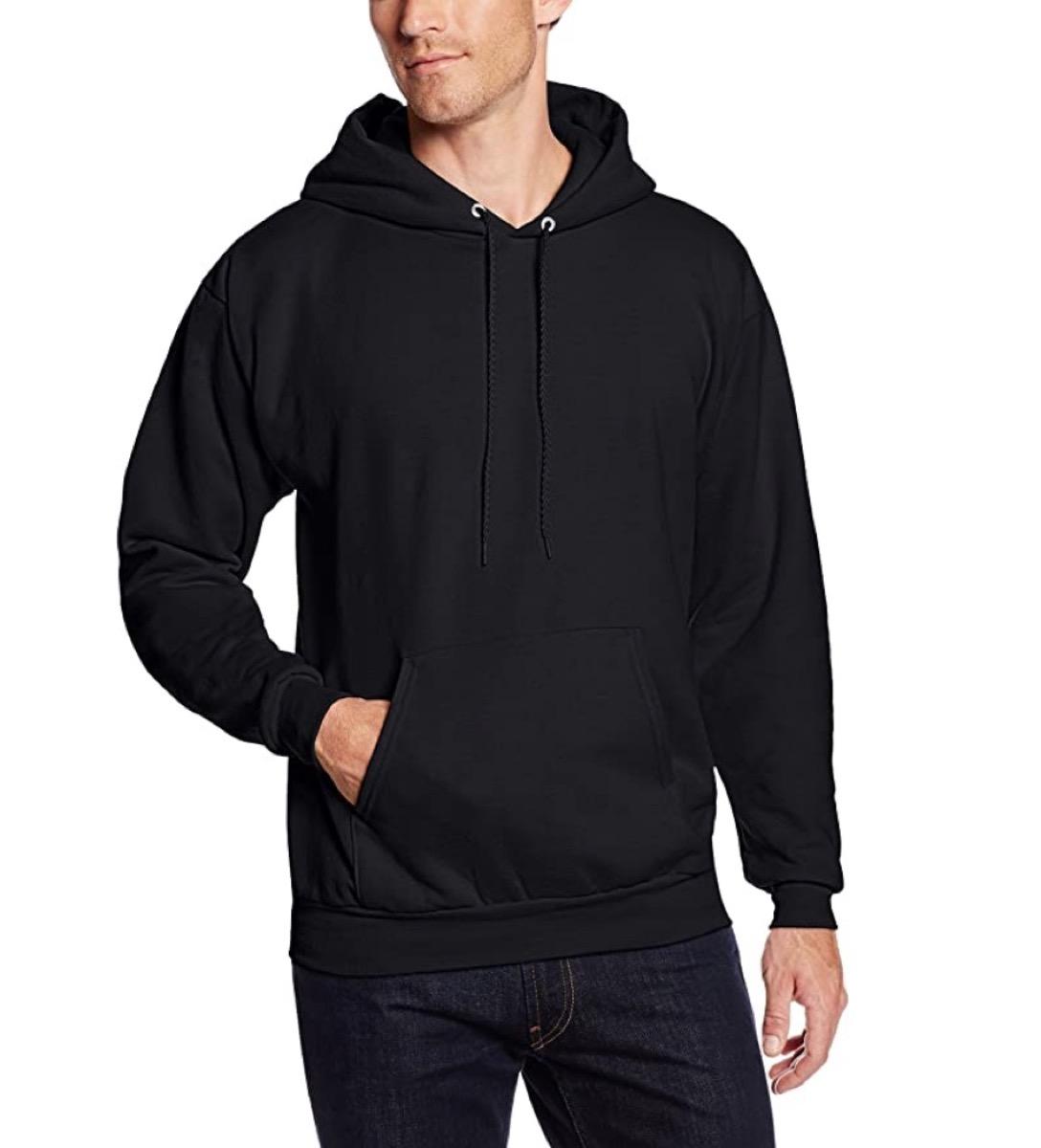 white man wearing black hoodie