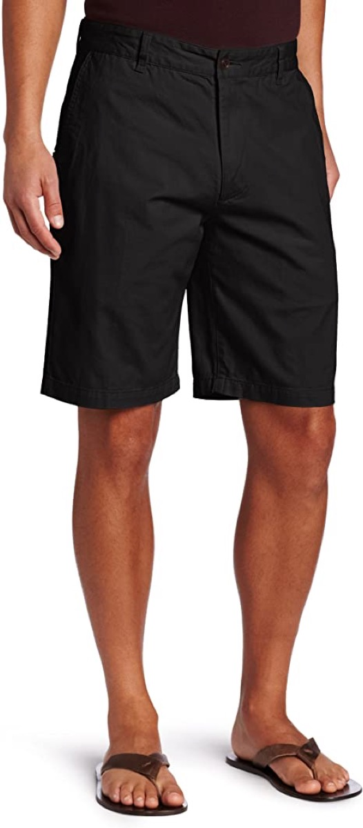 A pair of dark colored men's shorts
