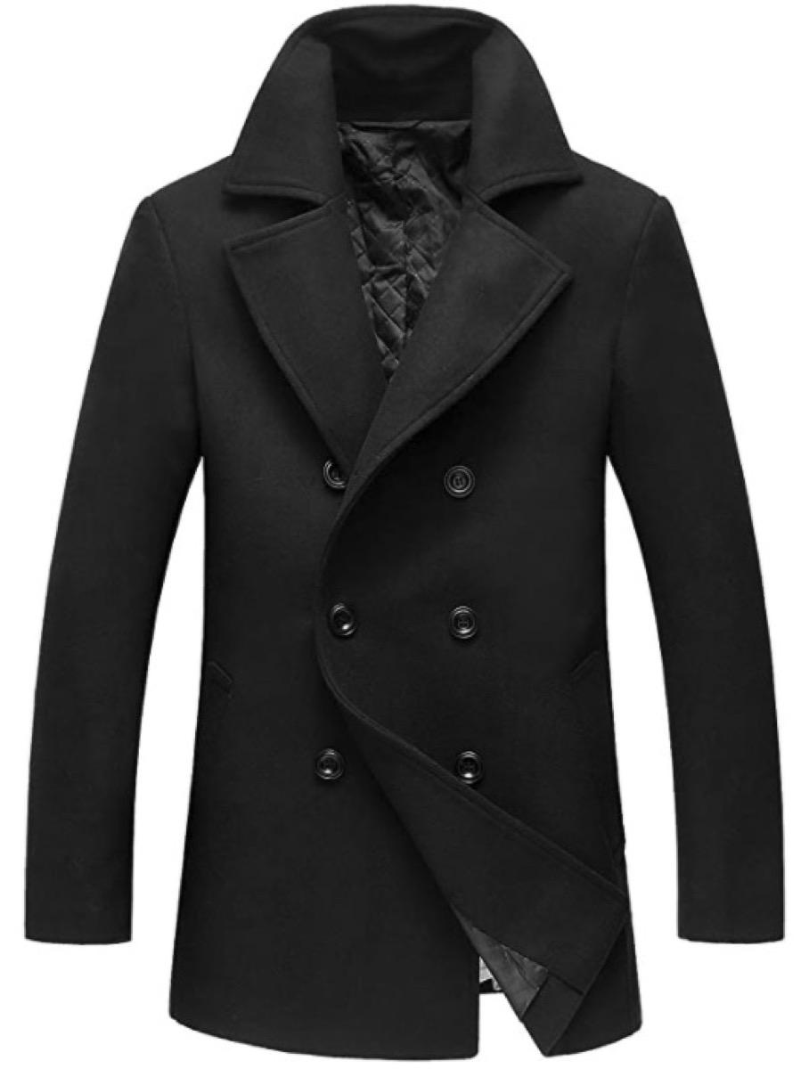 A men's pea coat