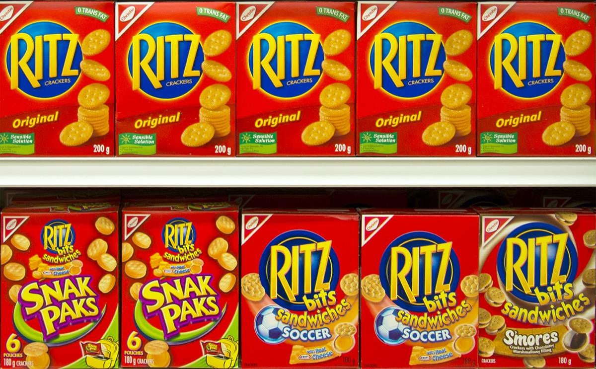 display of ritz crackers